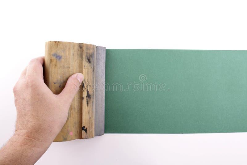 El silkscreening verde imagen de archivo libre de regalías