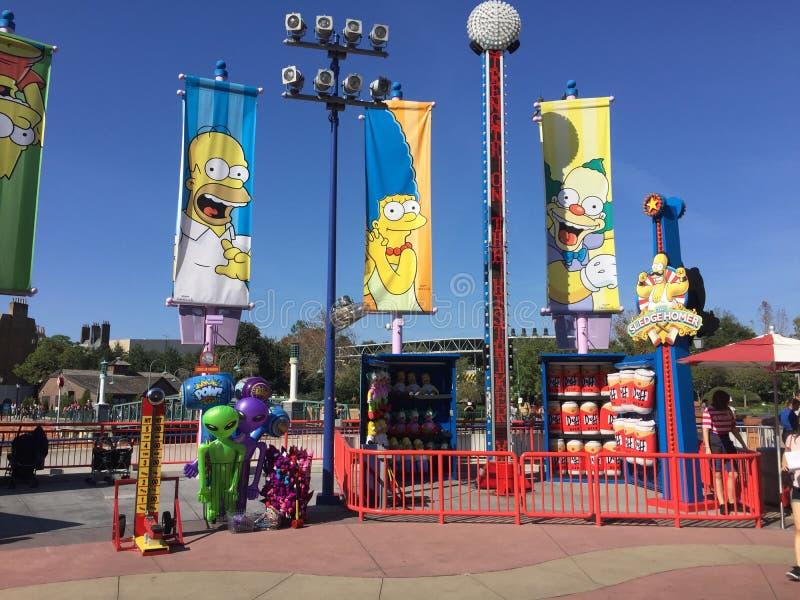 El Simpsons en los estudios universales, Orlando, FL foto de archivo libre de regalías