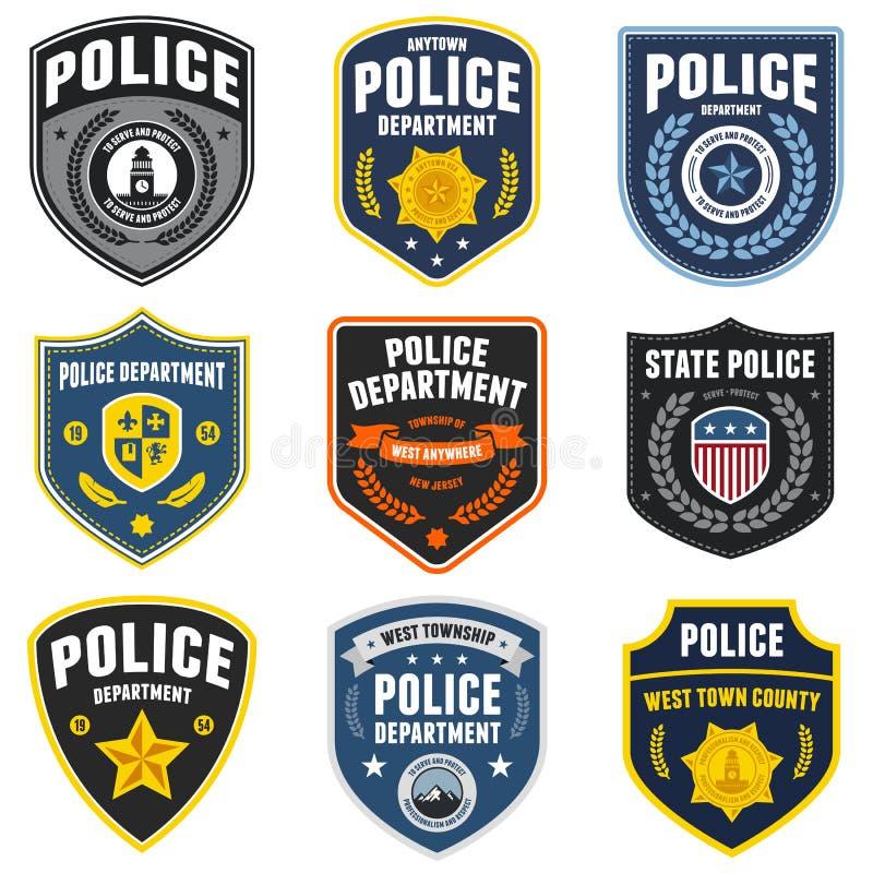 Remiendos de la policía ilustración del vector