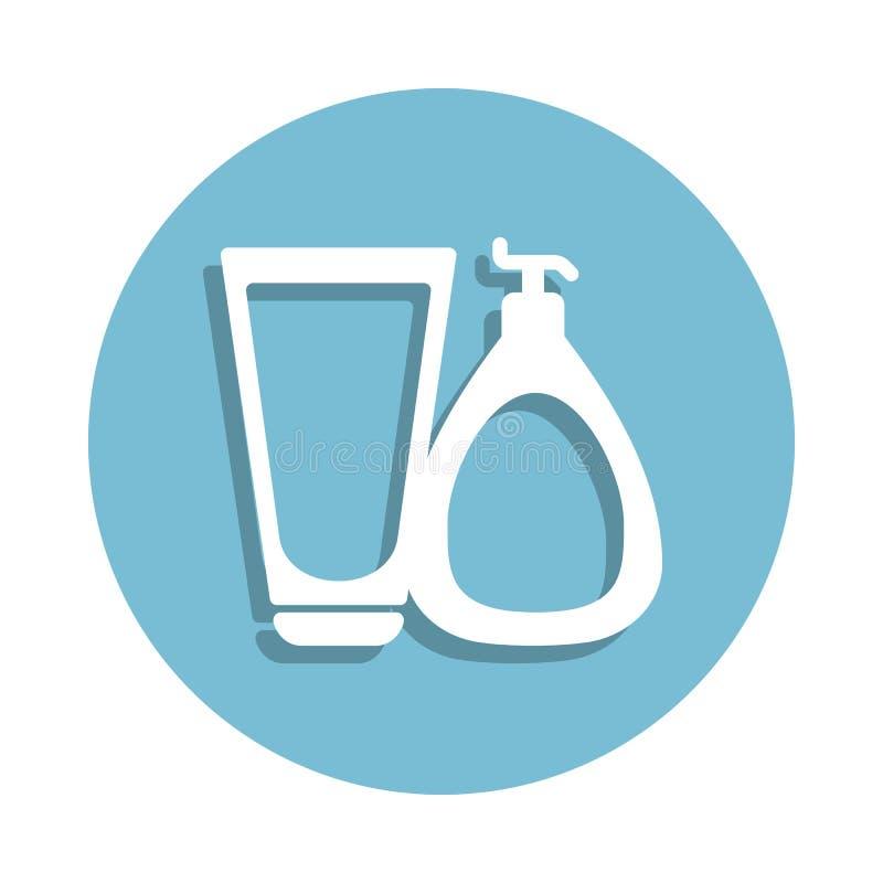 el sistema de bate el icono en estilo de la insignia Uno del icono de la colección del cuarto de baño se puede utilizar para UI,  libre illustration
