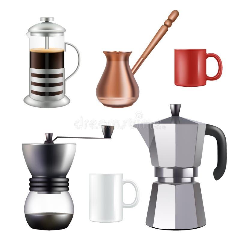 El sistema de café turco, vector el ejemplo realista libre illustration