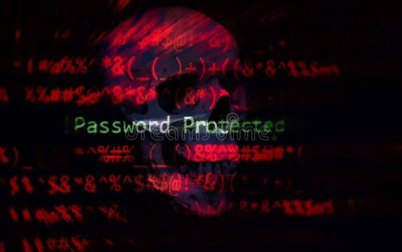 El sistema de datos cibernético de la verificación de la protección del ladrón de la seguridad de la contraseña/la contraseña pro foto de archivo libre de regalías