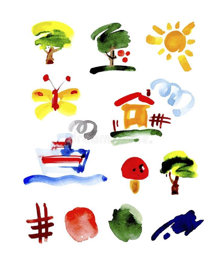 El sistema de dibujos en niño le gusta estilo libre illustration