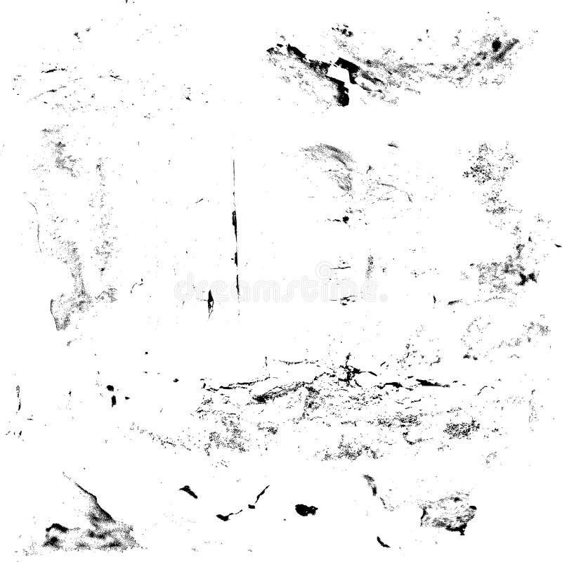 El sistema de grunge texturiza rasguños blancos y negros ilustración del vector