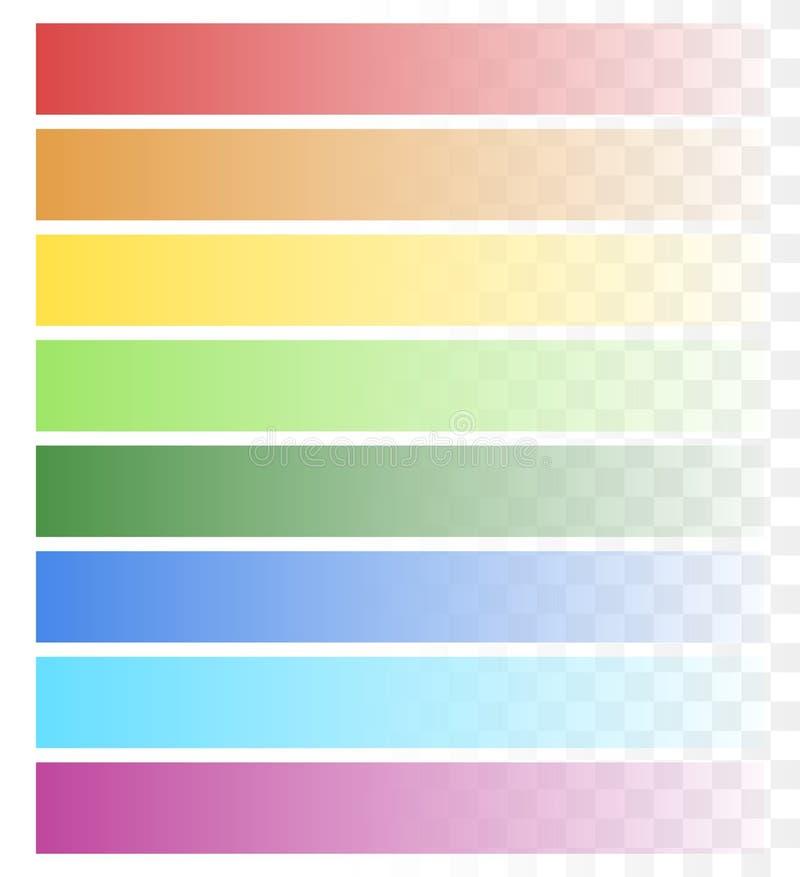 El sistema de la bandera de descoloramiento forma, los fondos con la transparencia ilustración del vector