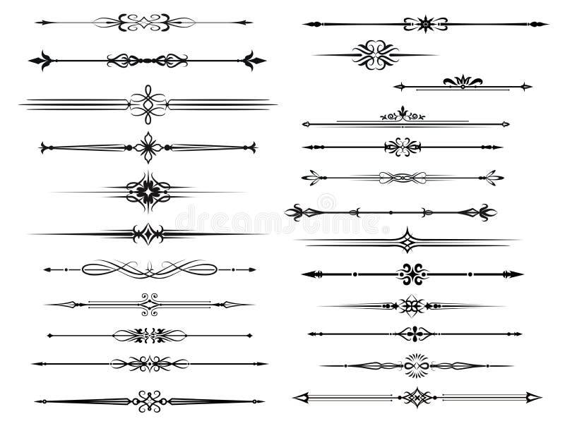 El sistema de la frontera y del divisor para el marco del vintage diseña libre illustration