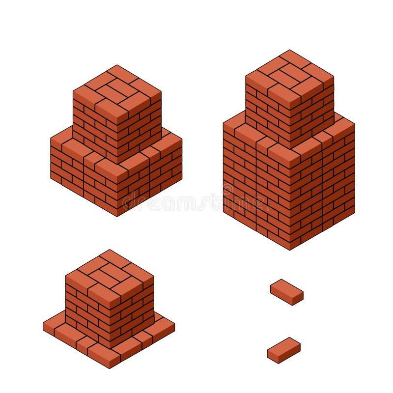 El sistema de las bases del cubo de diversas alturas foto de archivo libre de regalías