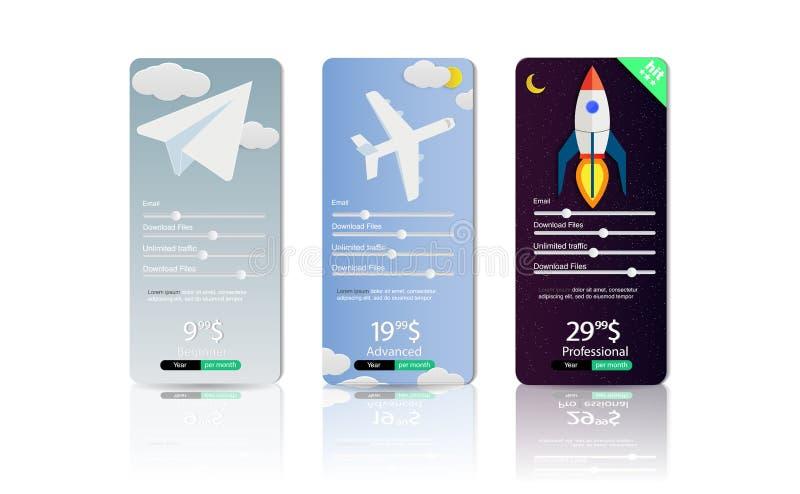 El sistema de las ofertas tarifa la compañía del móvil del plan Es fácil elegir una tarifa para sus necesidades Sistema de la lis libre illustration