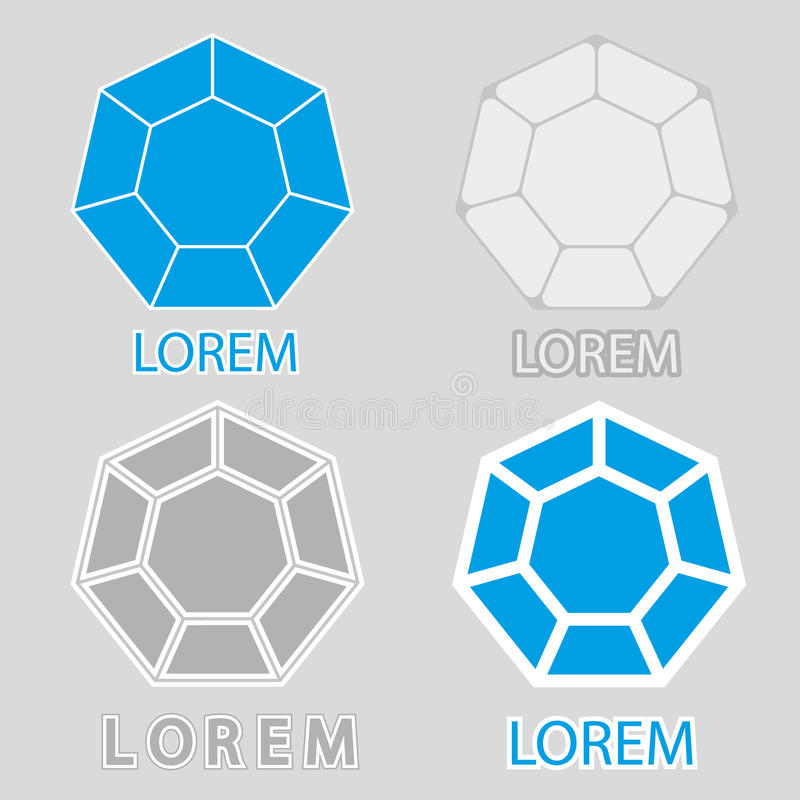 El sistema de logotipos del diamante imagenes de archivo