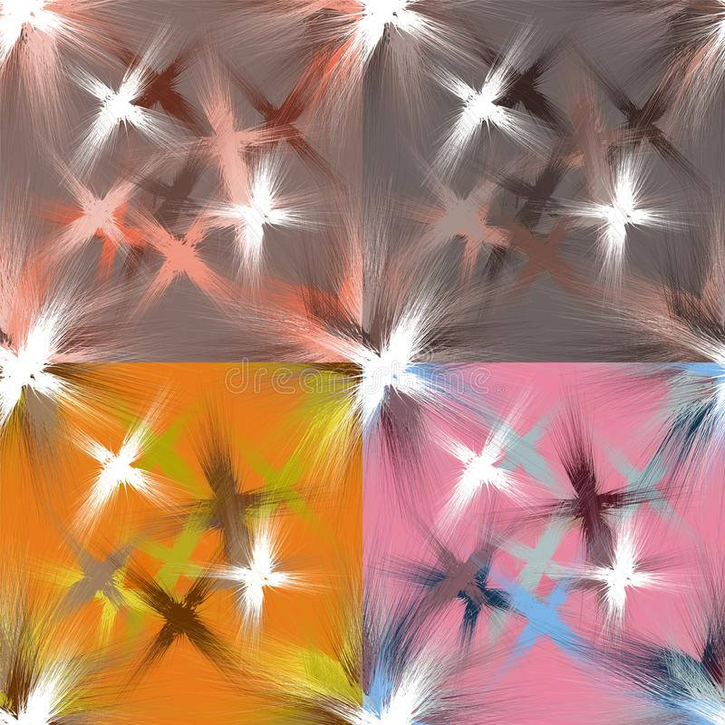 El sistema de modelos manchados grunge inconsútil con colorido salpica libre illustration