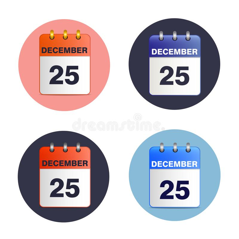 El sistema de rasga calendarios libre illustration