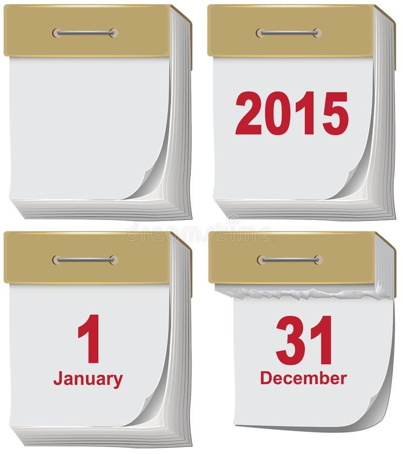 El sistema de rasga el calendario stock de ilustración