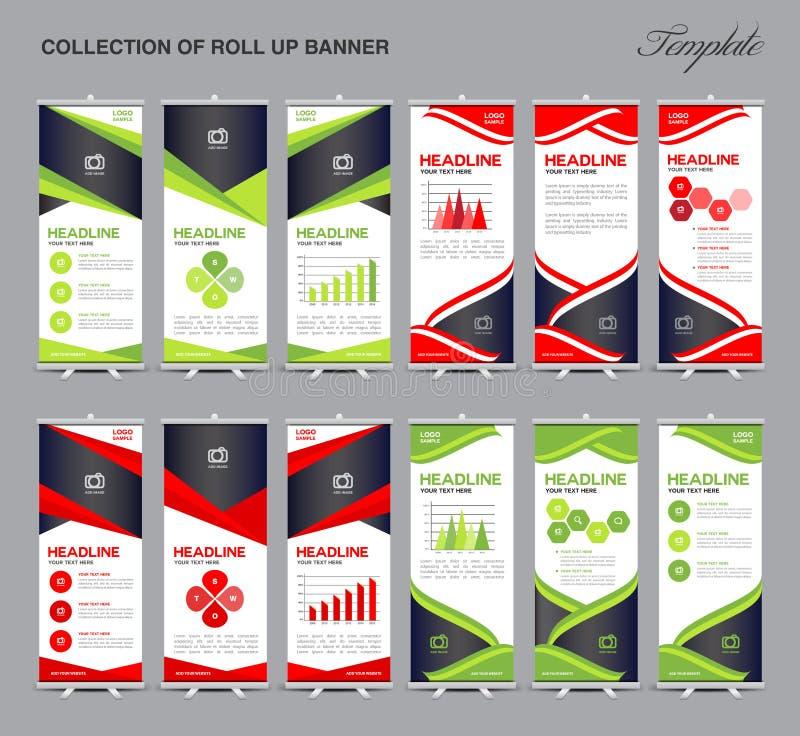 El sistema de rueda para arriba el fondo del polígono del diseño de la bandera stock de ilustración