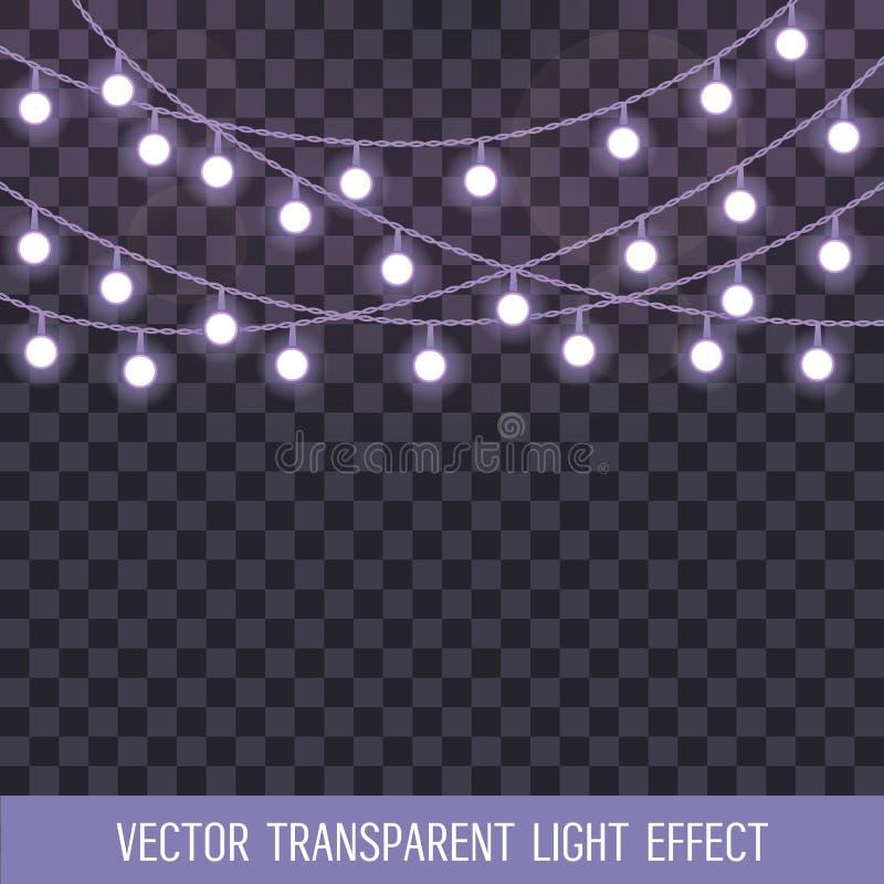 El sistema de traslapo, secuencia que brilla intensamente se enciende en un fondo transparente Ilustración del vector libre illustration