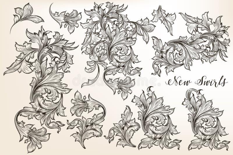 El sistema de vintage del vector prospera para el diseño en estilo antiguo libre illustration