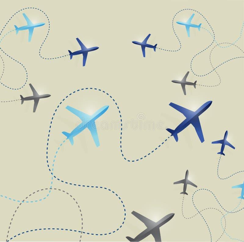 El sistema del aeroplano encamina el ejemplo libre illustration