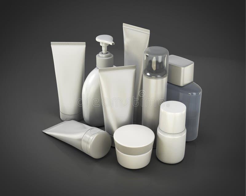 El sistema del cosmético de diverso significa stock de ilustración