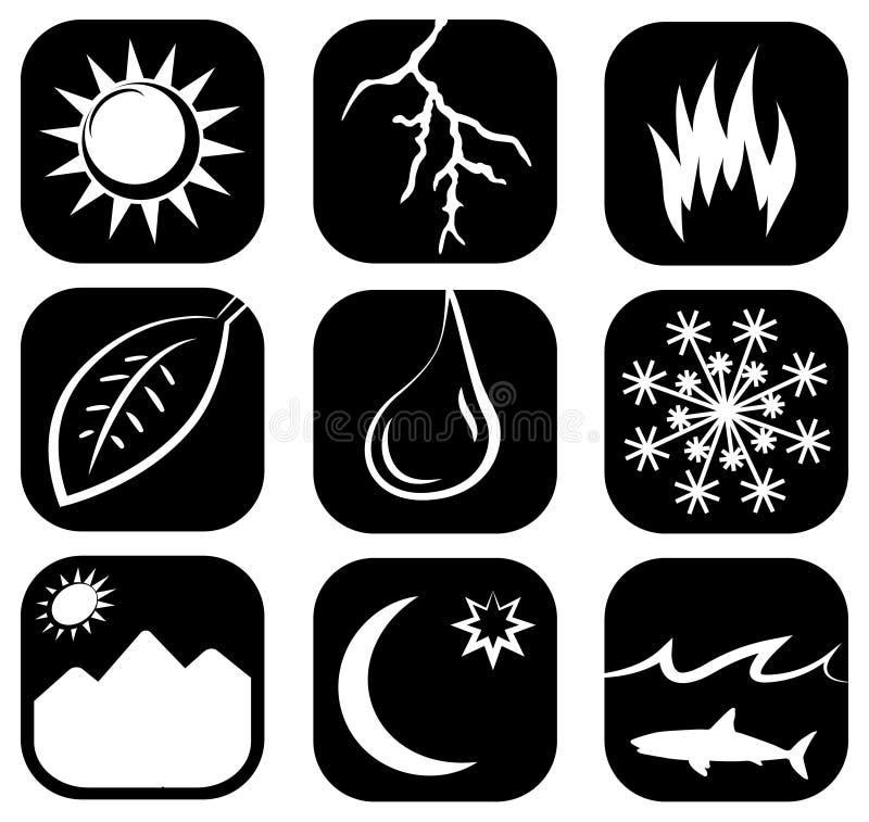 El sistema del icono de los elementos imagen de archivo libre de regalías