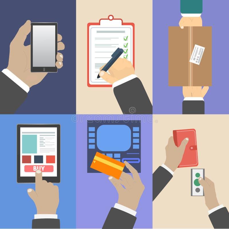 El sistema del negocio da conceptos de la acción stock de ilustración