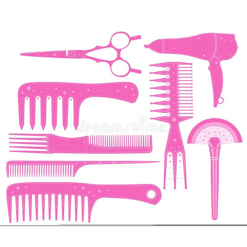 El sistema del peluquero en una parte 1 del formato del vector imágenes de archivo libres de regalías