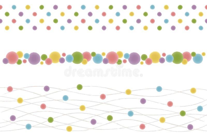 El sistema del punto japonés alinea como una acuarela. libre illustration