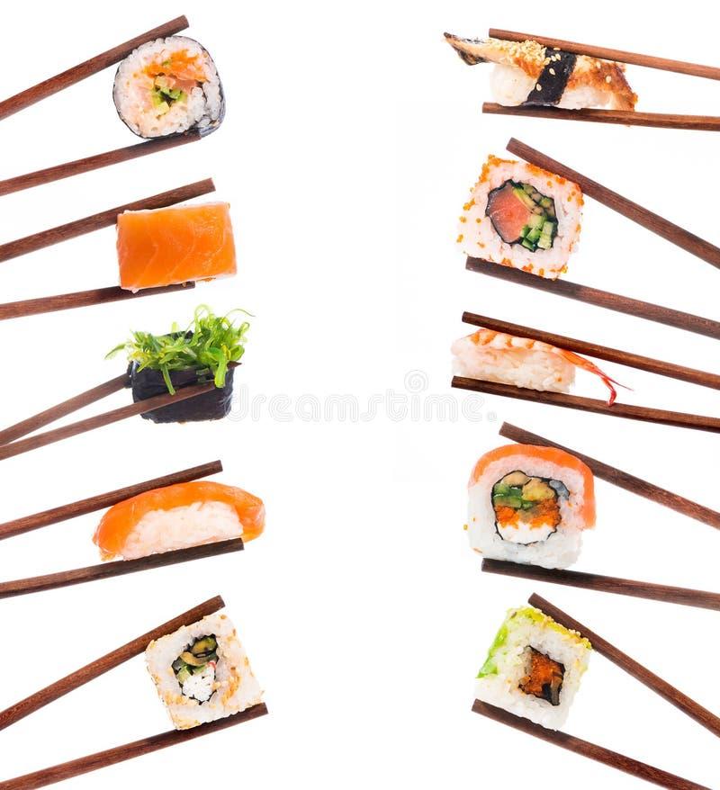 Sistema del sushi foto de archivo libre de regalías