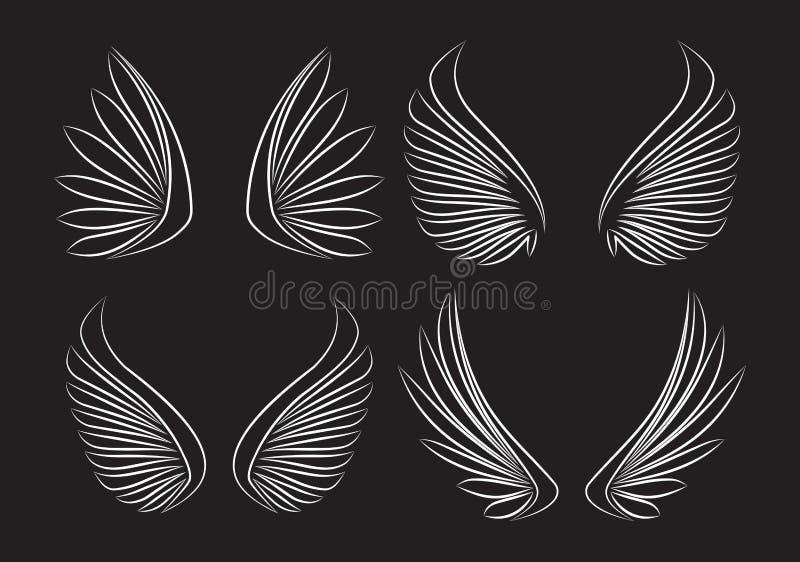 El sistema del vector resumido piar del movimiento cuatro se va volando en backgroun negro ilustración del vector