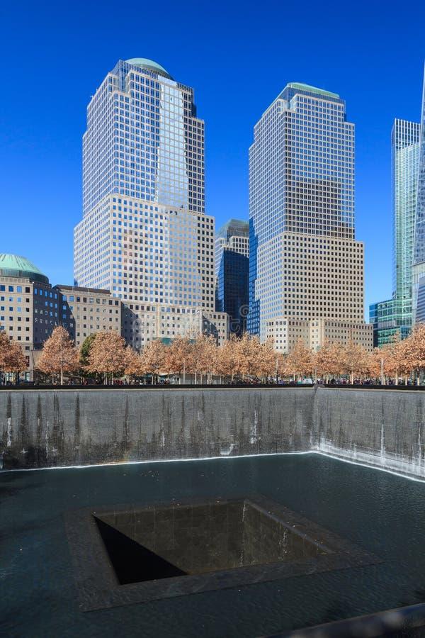 El sitio 9/11 conmemorativo foto de archivo
