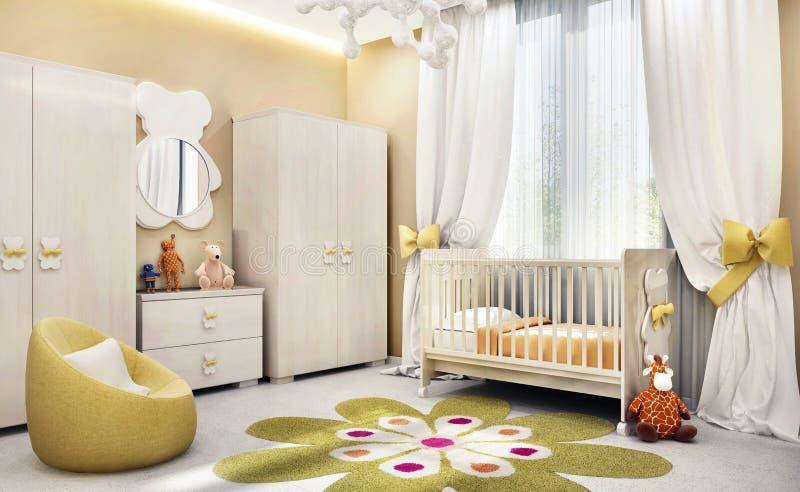 El sitio de niños moderno para el bebé imagen de archivo