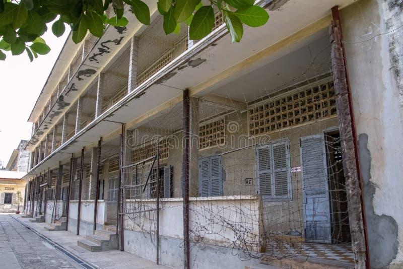 El sitio es una escuela secundaria anterior que fue utilizada como seguridad fotos de archivo libres de regalías