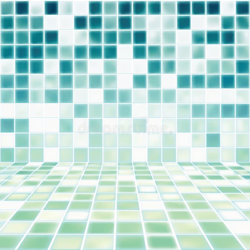 El sitio interior con el mosaico embaldosó el cuarto de baño libre illustration