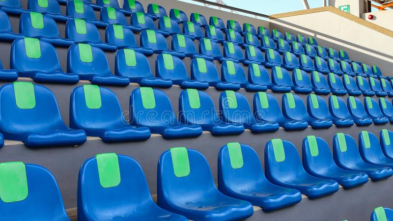 El sitio vacío del estadio de fútbol imagen de archivo