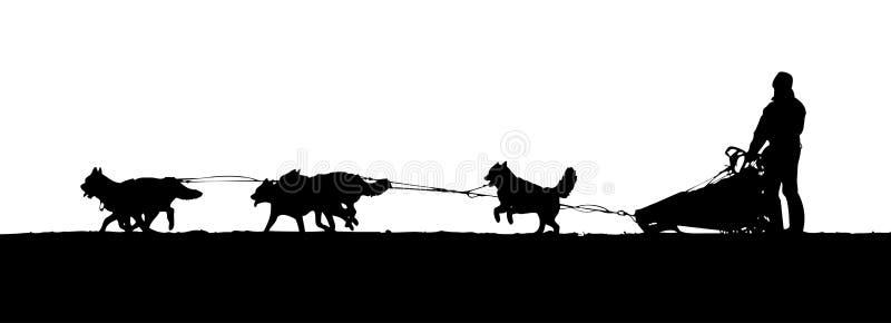 El sledding del perro fotografía de archivo