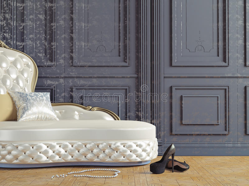 El sofá del vintage stock de ilustración