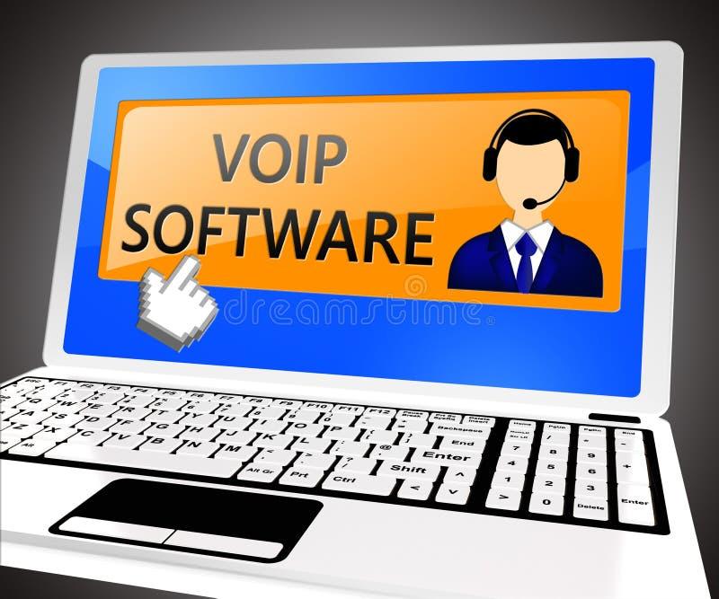 El software de Voip muestra el ejemplo de la voz 3d de Internet libre illustration