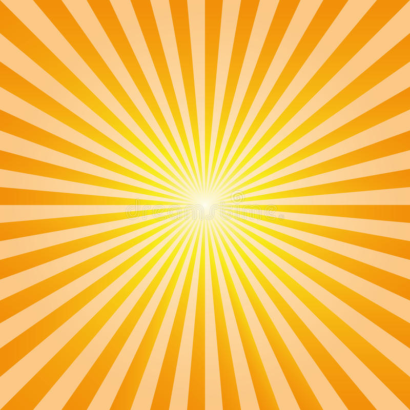El sol abstracto de la explosión del fondo del vintage irradia vector libre illustration