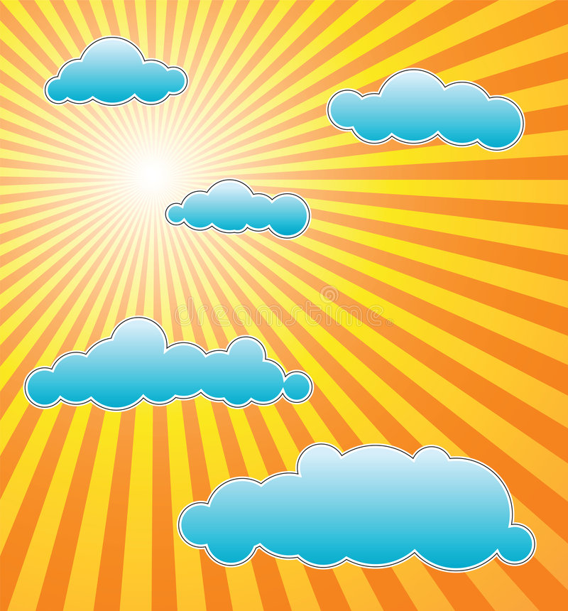 El sol caliente del verano stock de ilustración