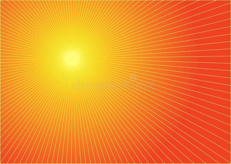 El sol caliente del verano ilustración del vector