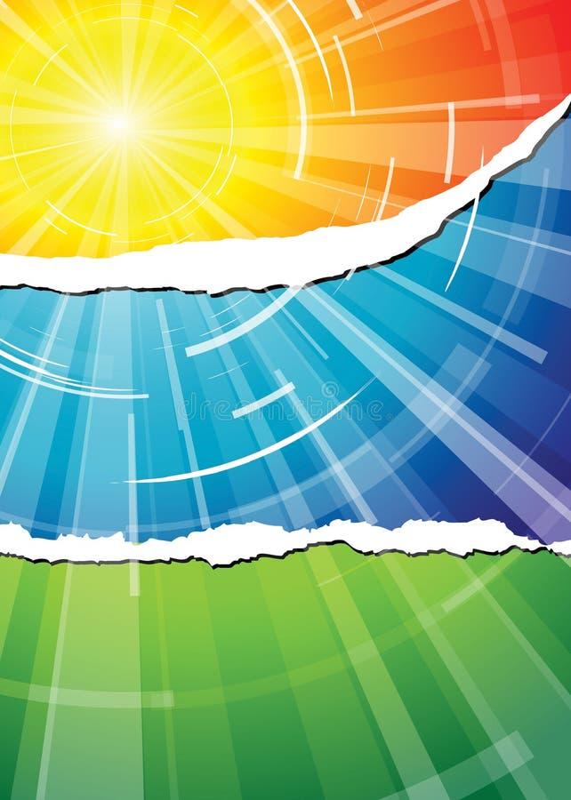 El sol caliente del verano libre illustration