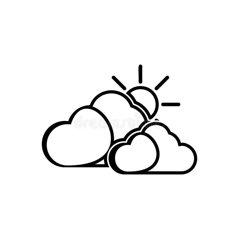 el sol detr?s del icono de la muestra de las nubes Elemento del tiempo para el concepto y el icono m?viles de los apps de la web  libre illustration