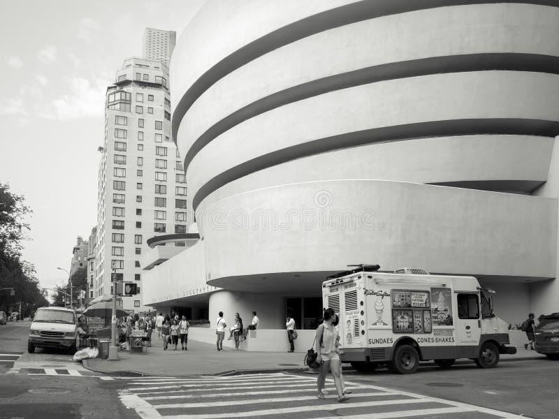 El Solomom R Museo de Guggenheim en New York City fotografía de archivo