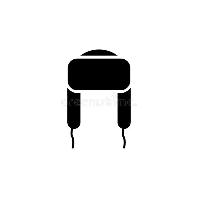 el sombrero con el oído agita el icono en el fondo blanco Ropa o ropa o moda para el ejemplo del vector del icono de la mujer del libre illustration
