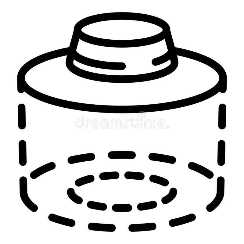 El sombrero del apicultor protege el icono, estilo del esquema ilustración del vector