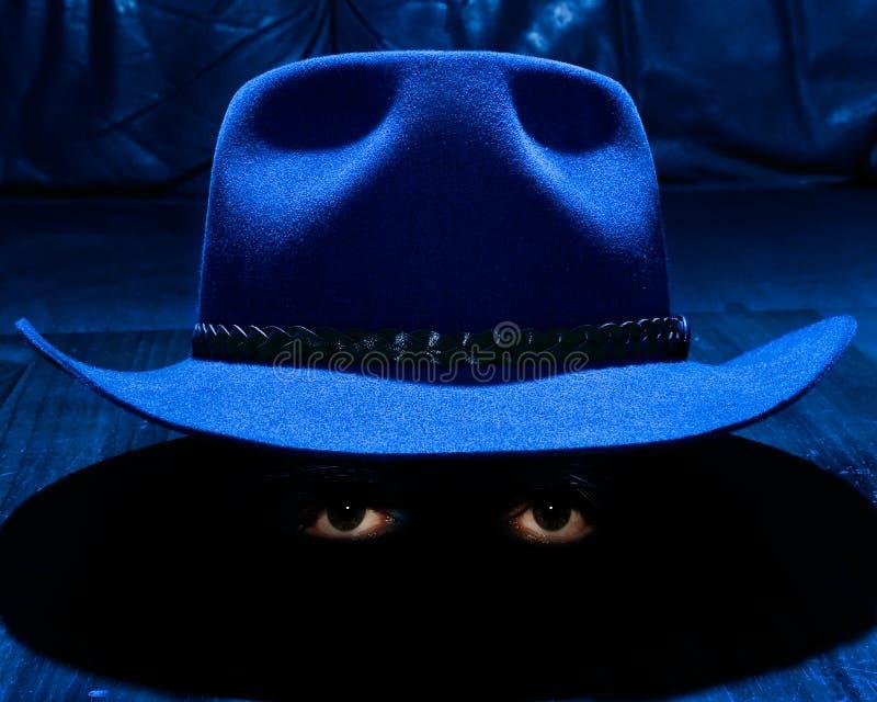 El sombrero y los ojos fotos de archivo libres de regalías