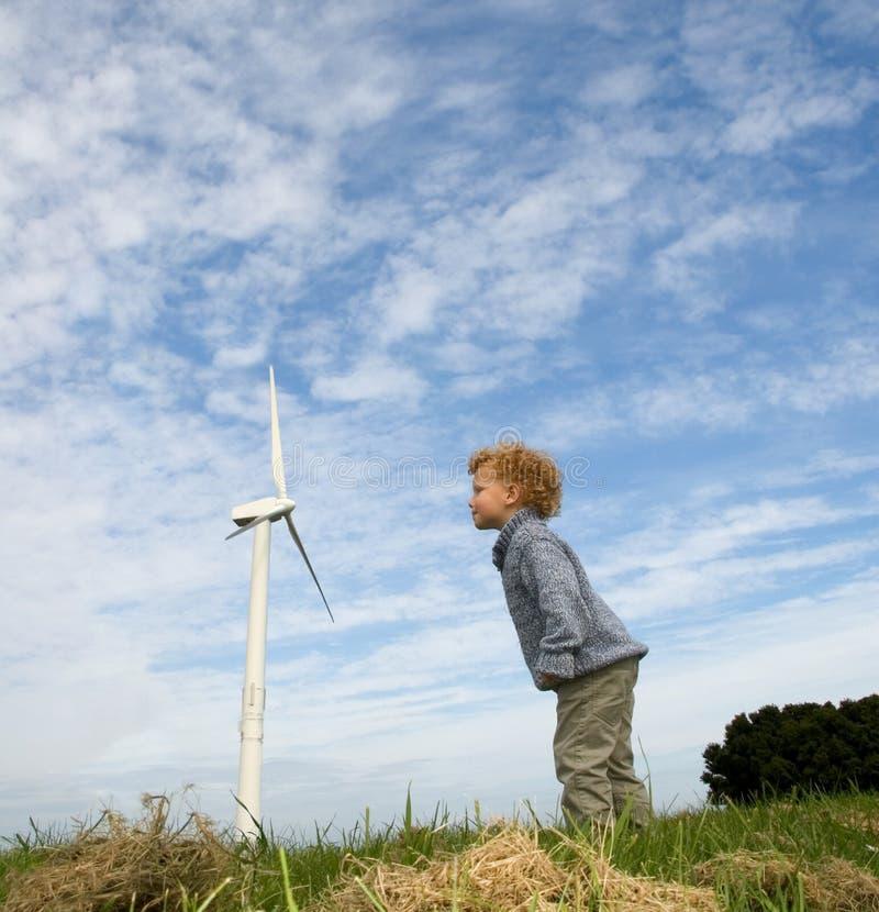El soplar en una turbina fotos de archivo libres de regalías