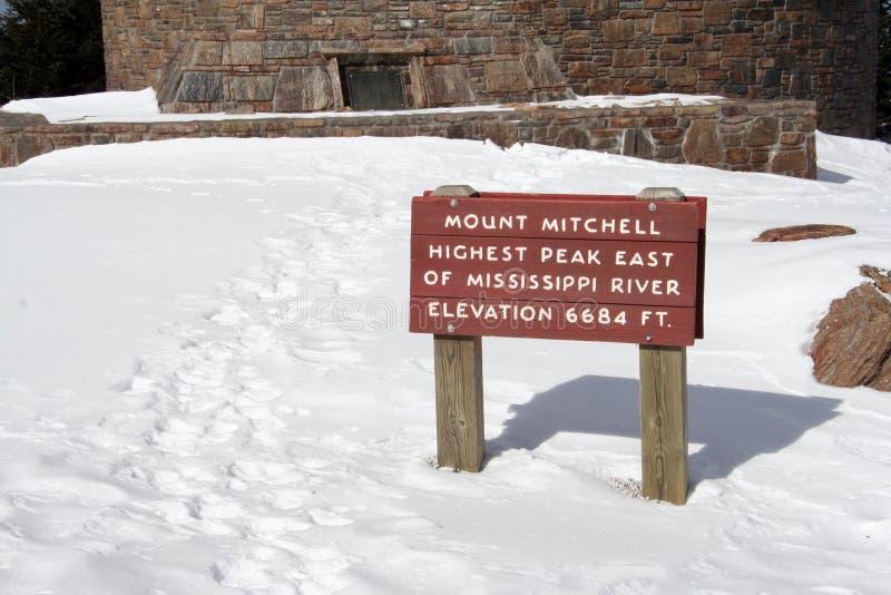 El soporte mitchell firma adentro las montañas carolian del norte imagenes de archivo