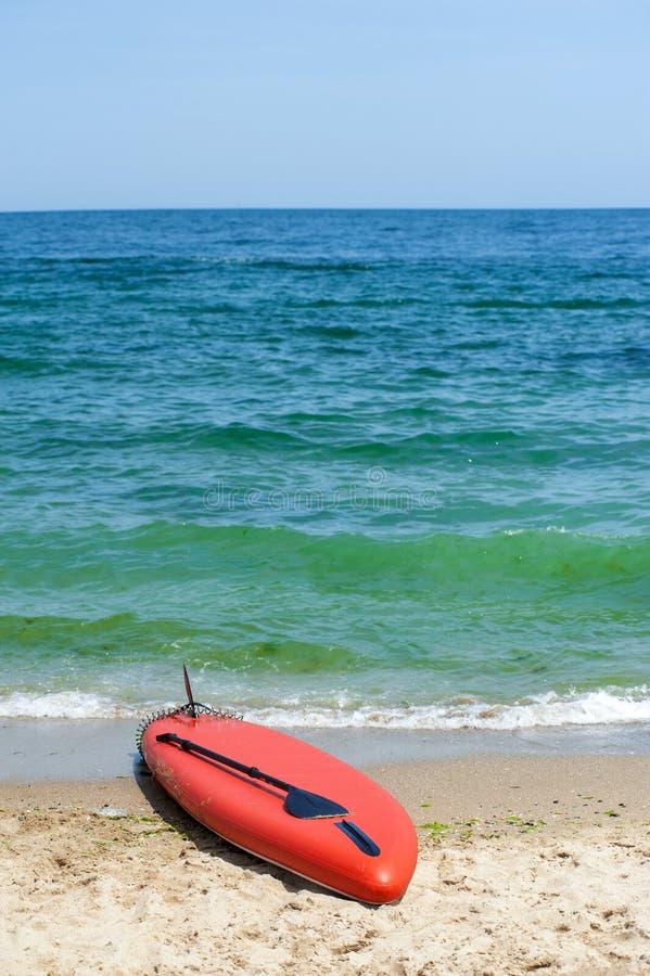 El SORBO se levanta el tablero de paleta beach04 imagenes de archivo