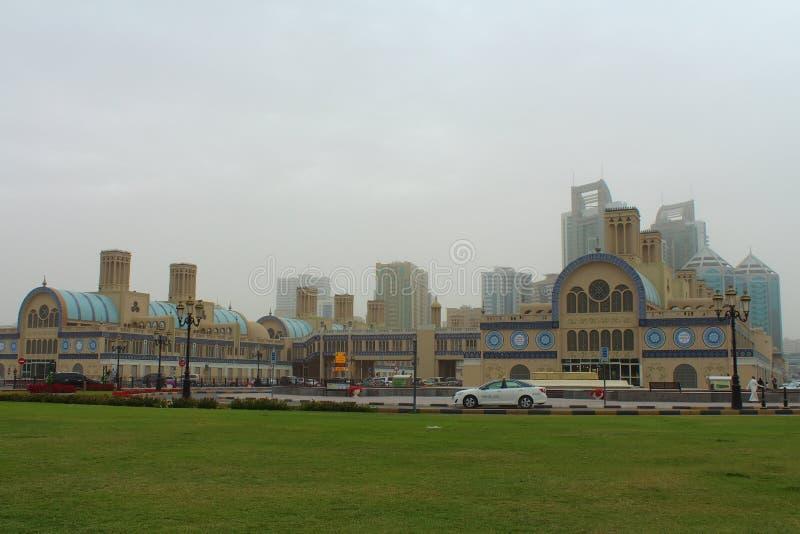 El Souq central en Sharja, United Arab Emirates foto de archivo libre de regalías