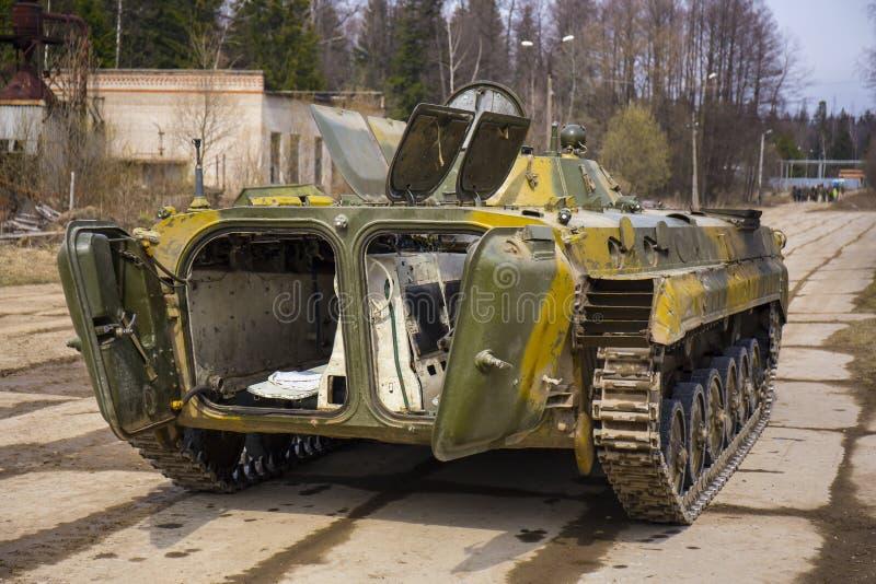 El soviet siguió el vehículo de lucha de la infantería fotografía de archivo libre de regalías