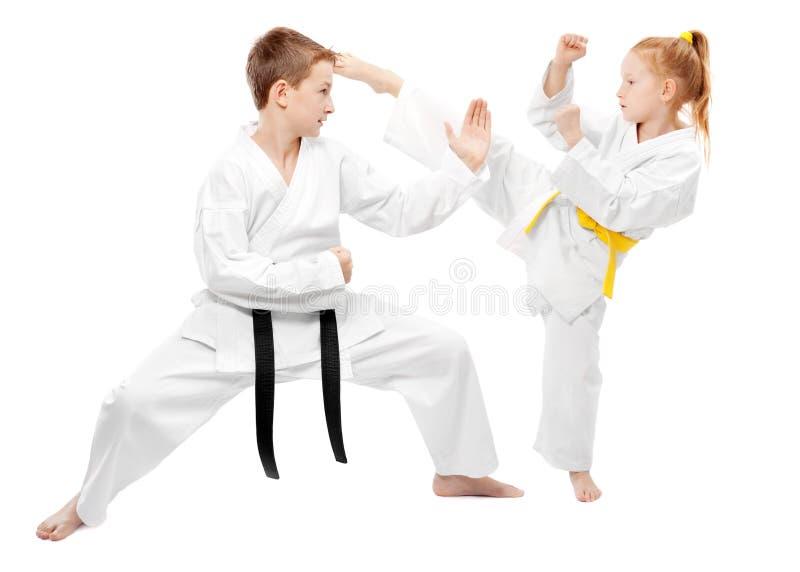 El sparring de los artes marciales imagen de archivo libre de regalías
